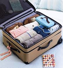 Organizing a suitcase